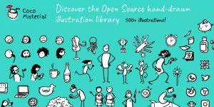Entdecken Sie CocoMaterial, die Open-Source-Bibliothek für handgezeichnete Illustrationen